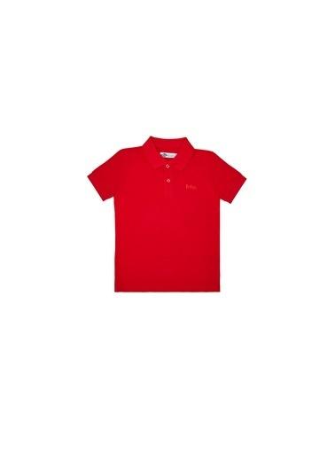 Lee Cooper Erkek Çocuk Beyaz T-Shirt Kırmızı
